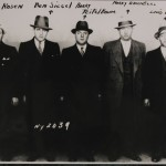 Lineup of five Jewish gangsters, including Ben (Bugsy) Siegel